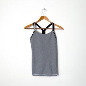 Lululemon Gingham Workout Black White Tank Top